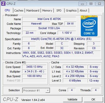 Core i5-4670K