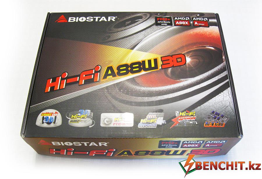 Упаковка Biostar Hi-Fi A88W 3D