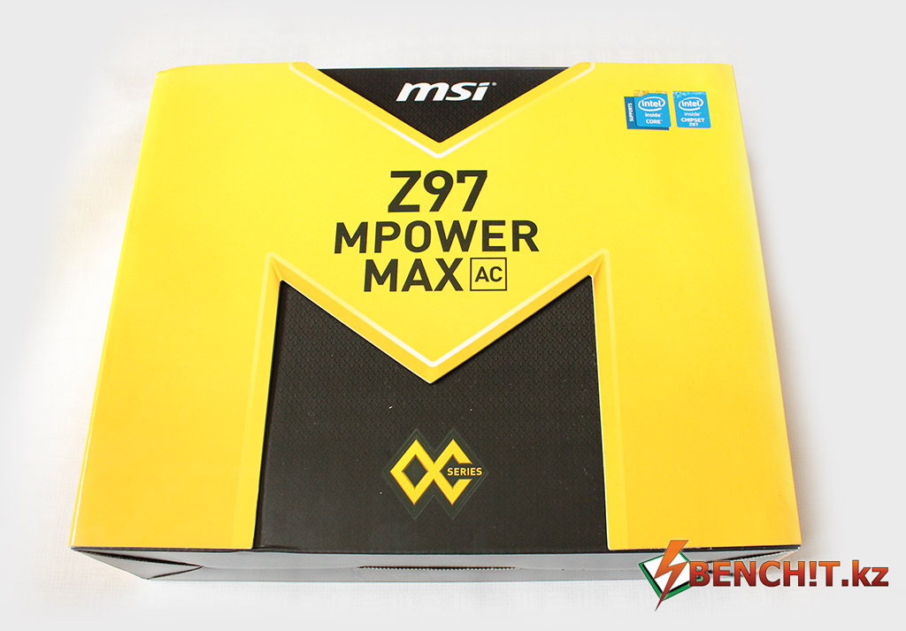 Упаковка материнской платы MSI Z97 MPower MAX