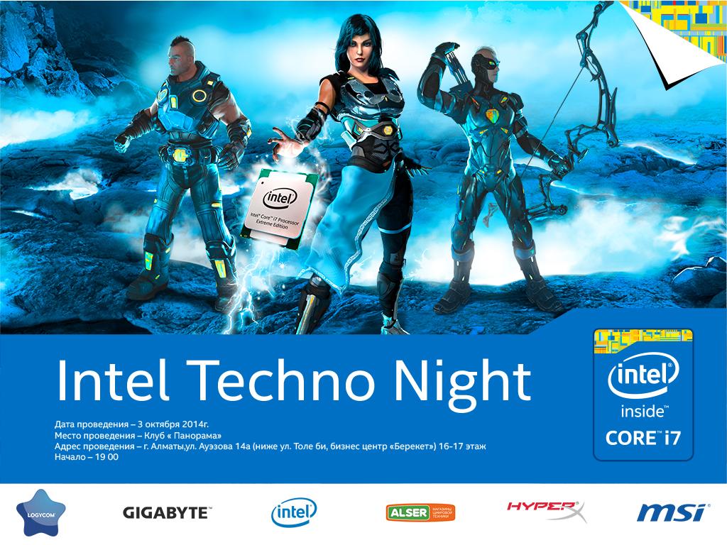 Оверклокинг жидкий азот и intel techno night