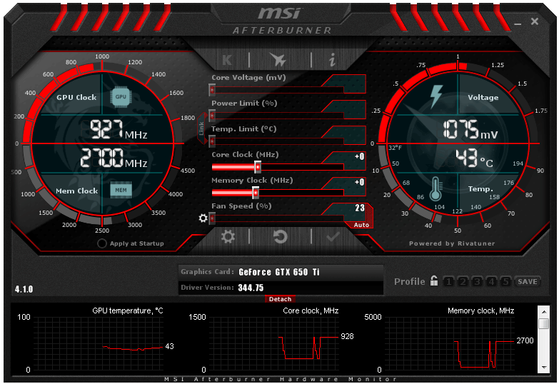 msi afterburner 4.1.0