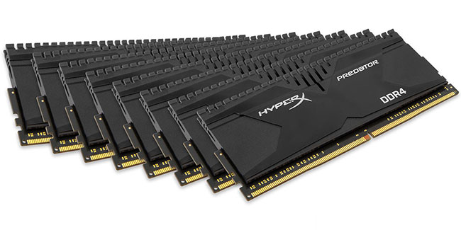 Набор памяти HyperX Predator DDR4-3000 объёмом в 128 ГБ