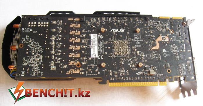 Обратная сторона ASUS HD7950 Direct CU II TOP